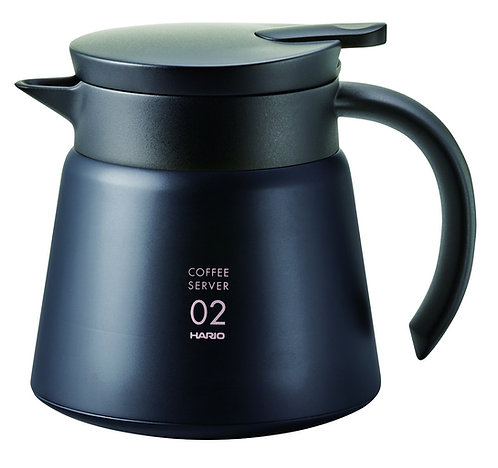 Hario V60 Insulated Stainless Steel Heat Resistant Server 02 - 600mL Black