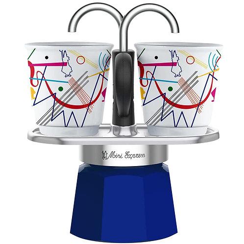 Bialetti Mini Express & 2pcs Espresso Cups - Kandinsky