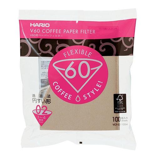 Hario V60 Paper Filter Misarashi - Brown 02