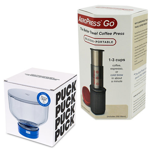 AeroPress Go & Puck Puck Bundle Set with 350 pcs filters