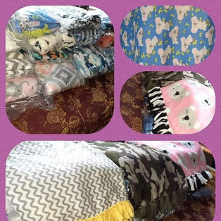 Blankets made by The Blanket Project