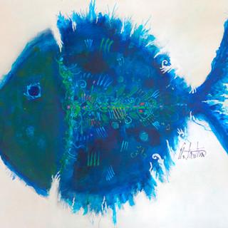 Blue Lahaina Fish