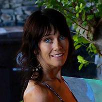 a photo of Stephanie Costatino outside her studio in Lahaina Maui