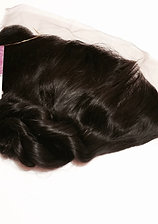 Virgin Peruvian Natural lace frontal - Loose Wave