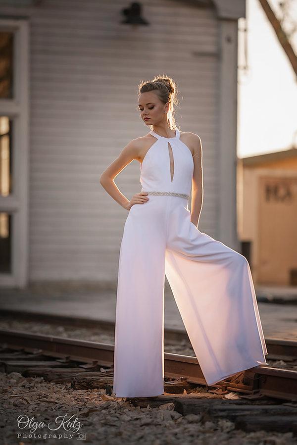 שמלת כלה אוברול חליפת מכנס