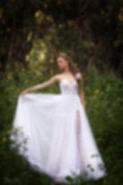 שמלת כלה תחרה וחצאית טול
