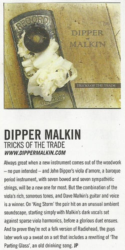 Dipper Malkin Acoustic Magazine Review