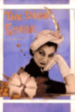 the divine feminine, mixed media art, vintage collage