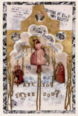 anya salmen, anya carolyn, religious art, religion, mixed media, postmodern, postmodern art, art, pastiche art