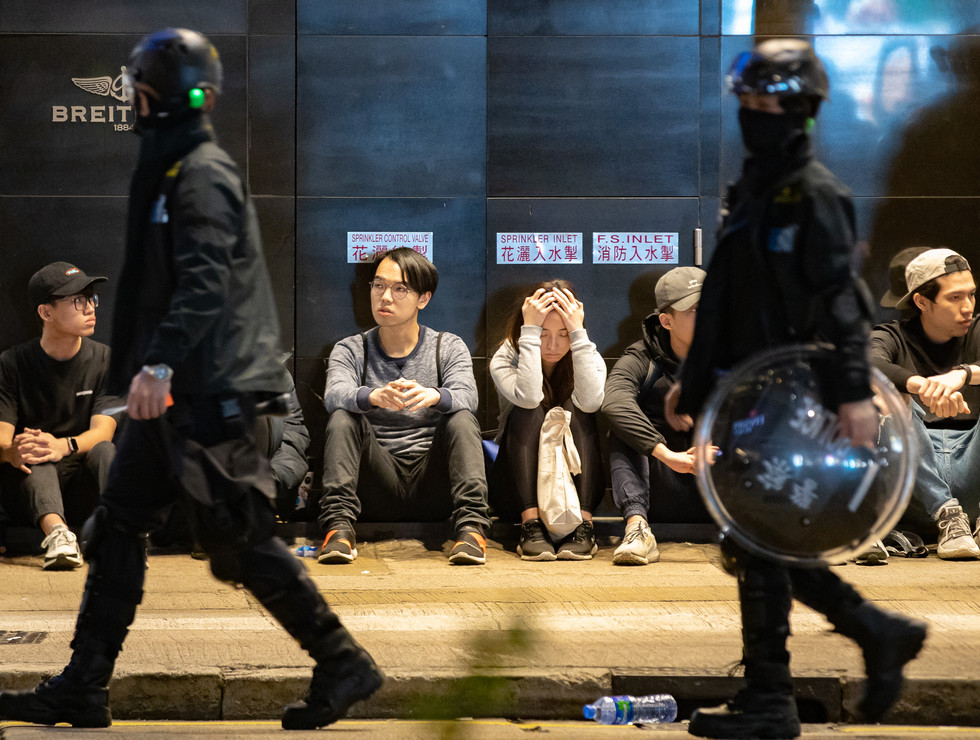 Police succeeded in arresting a large number of people in Hong Kong's Causeway Bay on the evening of 1 January 2020.