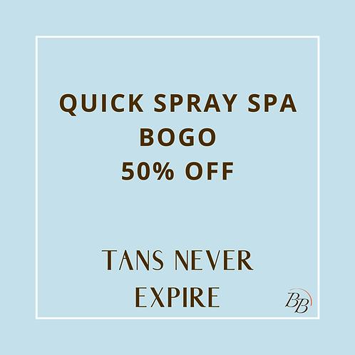Quick Spray Spa BOGO 50% OFF