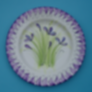 Simple brushstroke flowers plate