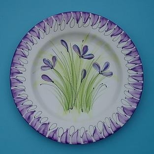 Simple brushstroke flowers plate