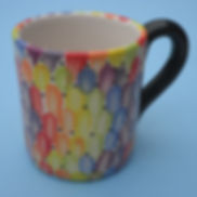 Rainbow fingerprint mug