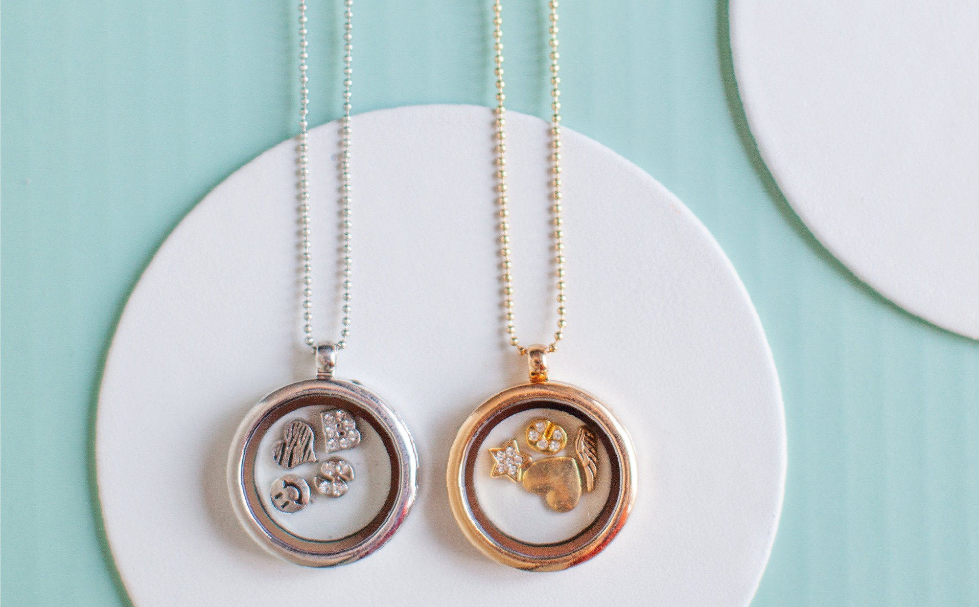 Personalised Round Locket in gold or silver