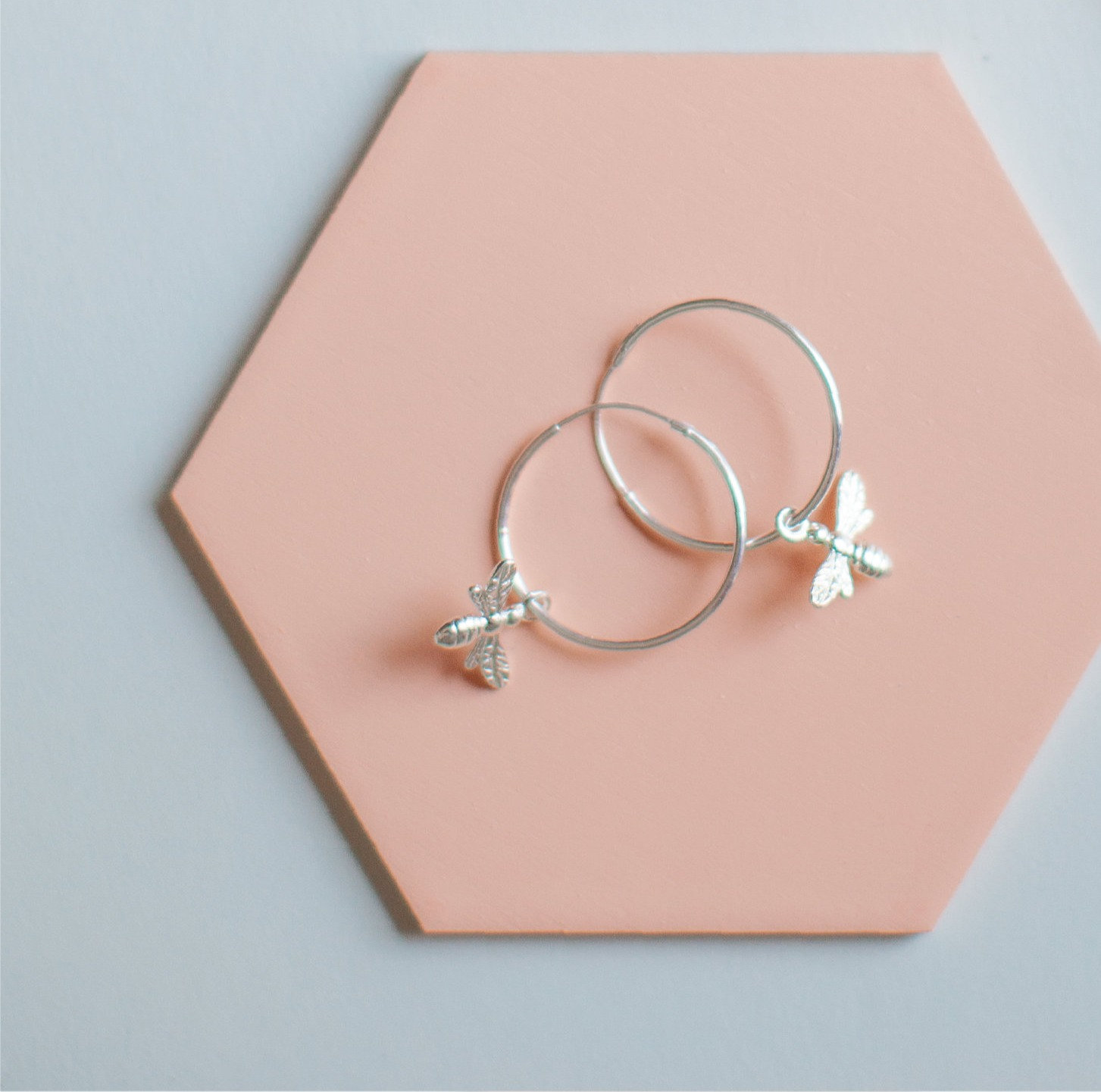 Sterling silver hoops which come in a £50 gift box