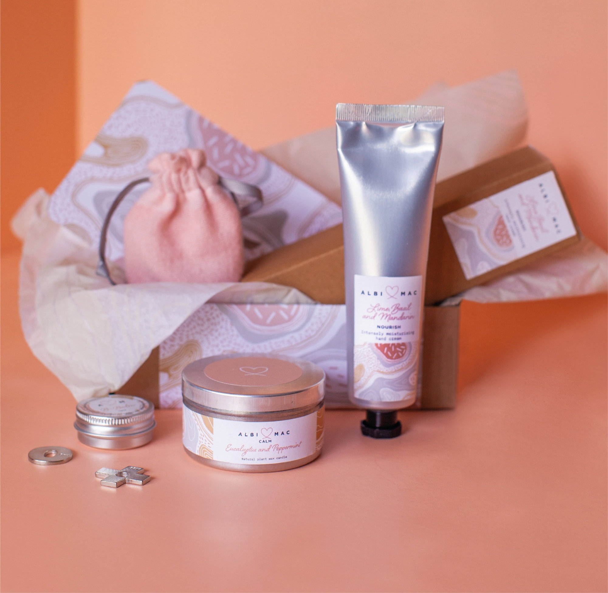 Gift box with a choice of Nourish, Restore and Repair Boxed Handcreams