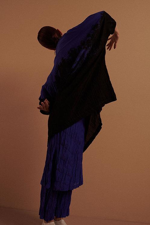 Blusão Voil Edição Azul Tie-Dye