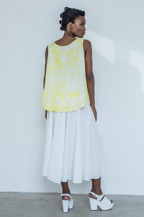 Blusa Decote Reversível Amarelo Textura