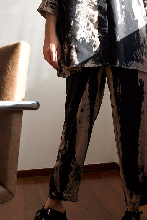 Calça Martingale Upcycling Tie-dye