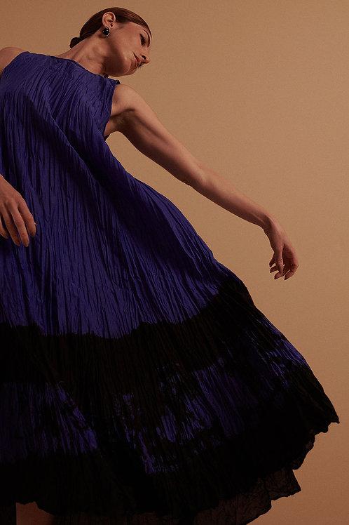 Vestido Regata Voil Edição Azul Tie-Dye