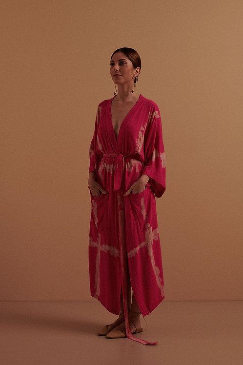 Kimono Crepe Tie-Dye