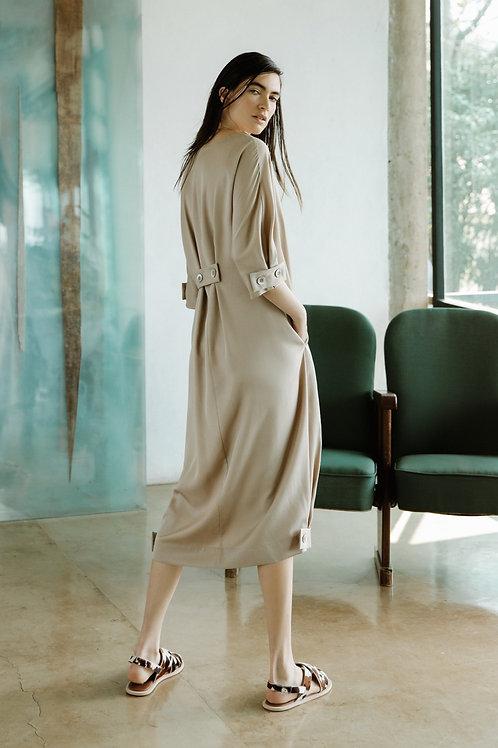 Vestido Martingale Liso