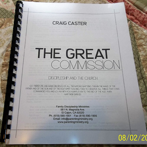 The Great Commission: Discipleship And The Church
