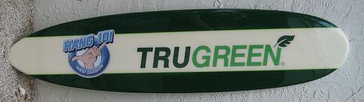Custom surfboard for TruGreen