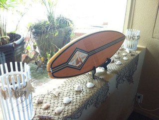 SURFBOARD GUEST BOOK FOR BEACH THEME WEDDING