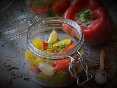 Conserves de poivrons au naturel en saumure