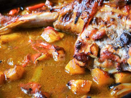 Cuisse de dinde au lait de coco et curry épicé