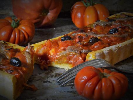 Tarte à la tomate comme une pizza