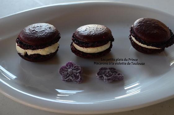 Macarons à la violette de Toulouse