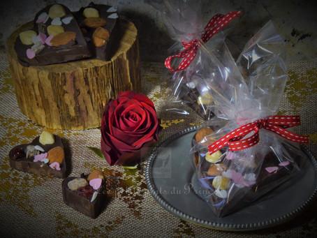My Heart belongs to...Darling ! (Coeur mendiant au chocolat)