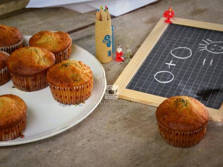 Muffins poire et mûres pour le goûter