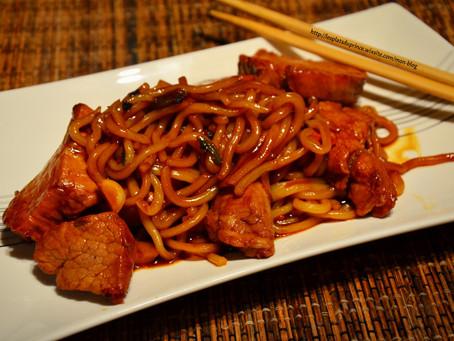 Korean Udon et filet mignon de porc