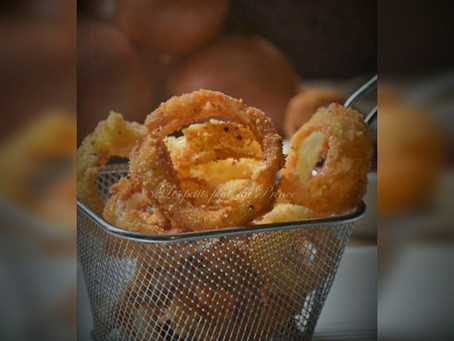 Onions rings (beignets d'oignons frits)