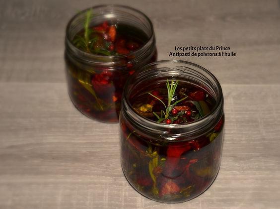 Antipasti de poivrons à l'huile