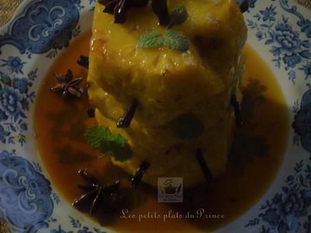 Ananas rôti au four au miel et aux épices