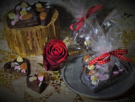 My heart belongs to ... Darling, coeur mendiant chocolat de la St Valentin