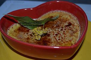 Crème brûlée au tilleul