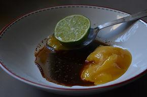 Brochettes de Sot-l'y-laisse sauce au miel