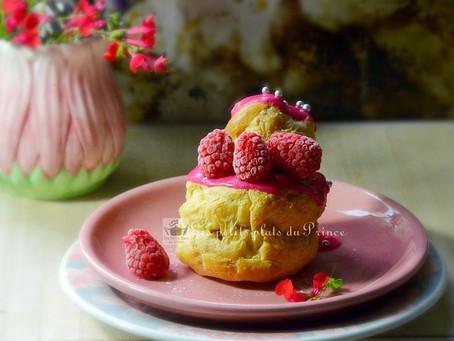 Religieuse Pinky à la framboise pour Octobre Rose