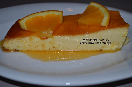 Crème renversée à l'orange