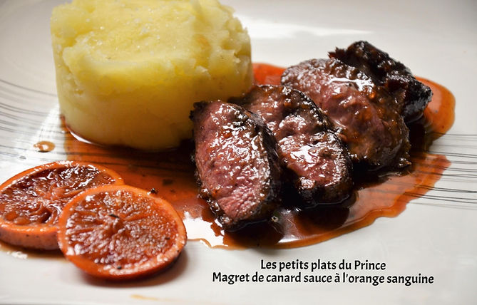 Magret de canard sauce à l'orange sanguine