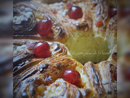 Brioche feuilletée façon gâteau des Rois pour l'Epiphanie