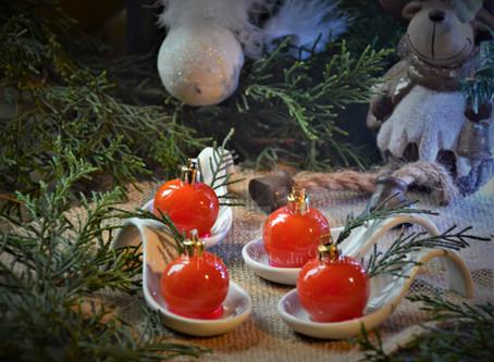 Tomates cerises caramélisées façon boules de Noël