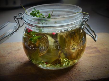 Antipasti artichauts à l'huile