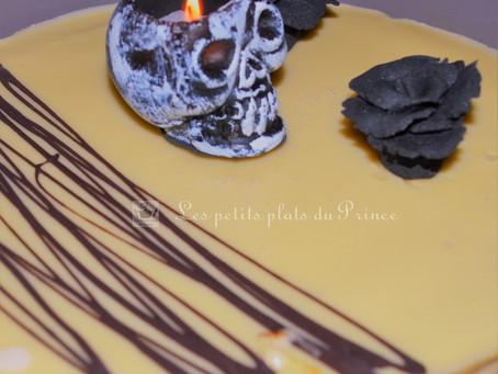 Gâteau choco caramel d'Halloween